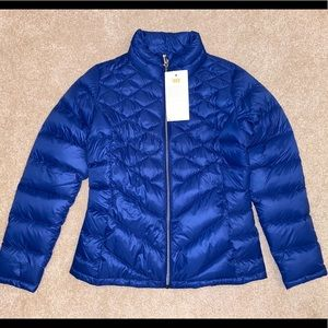 LUCY DAILY ZEN DOWN PUFFER JACKET BLUE NWT M